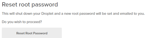 Resetting the root password.